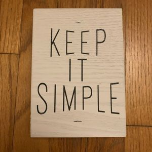 Keep It Simple Wall Decor